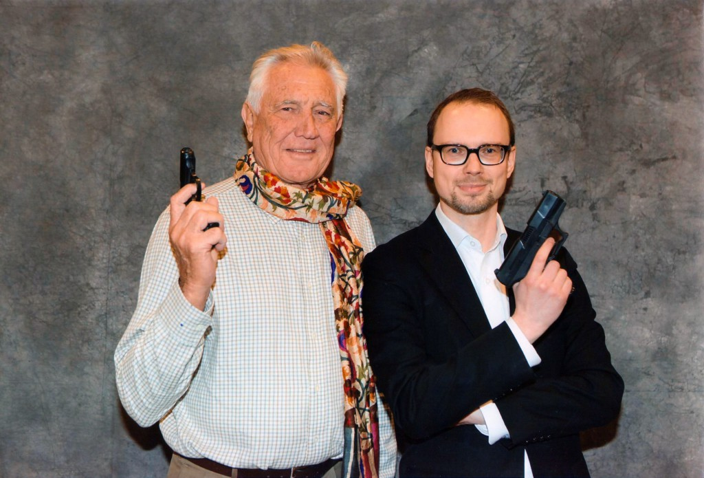 "George Lazenby (007) og Brian ""Brie"" Iskov fotograferet i Malmø 2014"