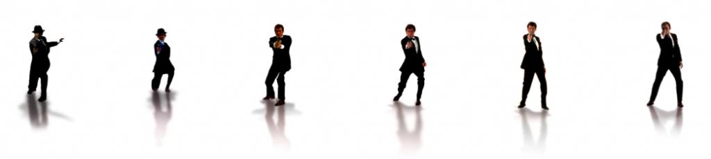 Alle EONs Bond-skuespillere fra filmenes åbningssekvenser