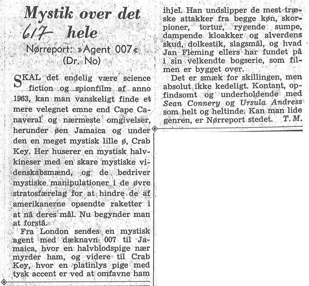 DR NO Berlingske Aftenavis 060463