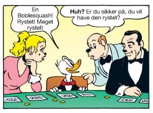 Agent 00-And på Casino Bingo Royale (tegning af Marco Rota, © Egmont/Disney)
