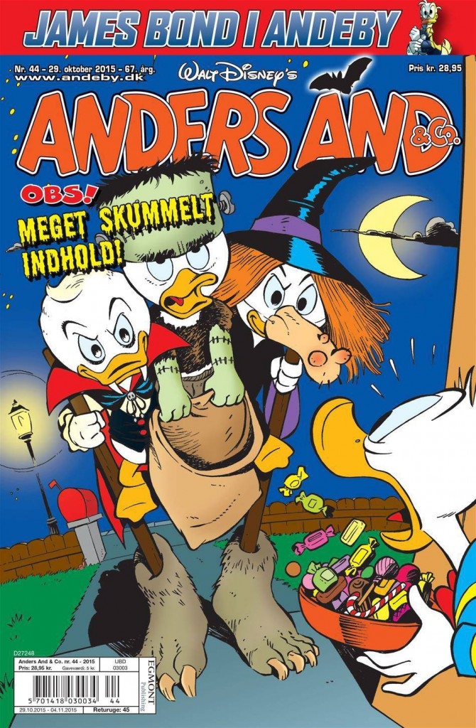 "Dansk ""Anders And & Co."" nr. 44/2015. © Egmont/Disney"