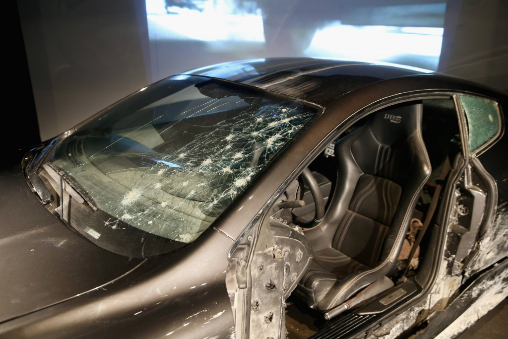 "Detail of Aston Martin DBS from ""Quantum of Solace"" (2008) . Photo by London Film Museum"