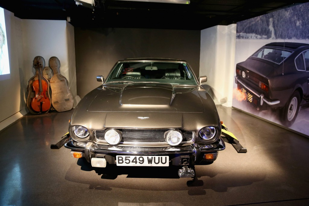 "Aston Martin V8 Volante fra ""The Living Daylights"" (1987). Foto: London Film Museum"