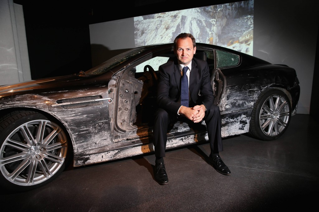 "Ben Collins in the Aston Martin DBS from ""Quantum of Solace"" (2008). Photo by London Film Museum"