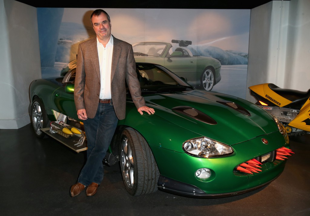 Chris Corbould with the Jaguar XKR from 'Die Another Day' (Photo by Chris Jackson/Getty Images for London Film Museum)