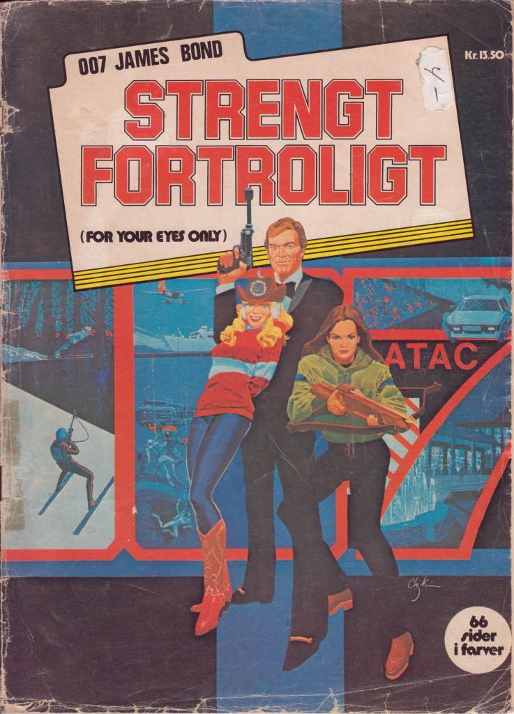007 James Bond strengt fortroligt: Winthers 1981, forside