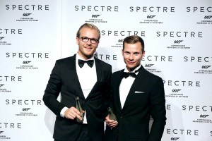 "Søren Aamand and Anders Houmann of Nohrlund at the ""SPECTRE"" gala, 27.10.2015 (foto © Nohrlund)"