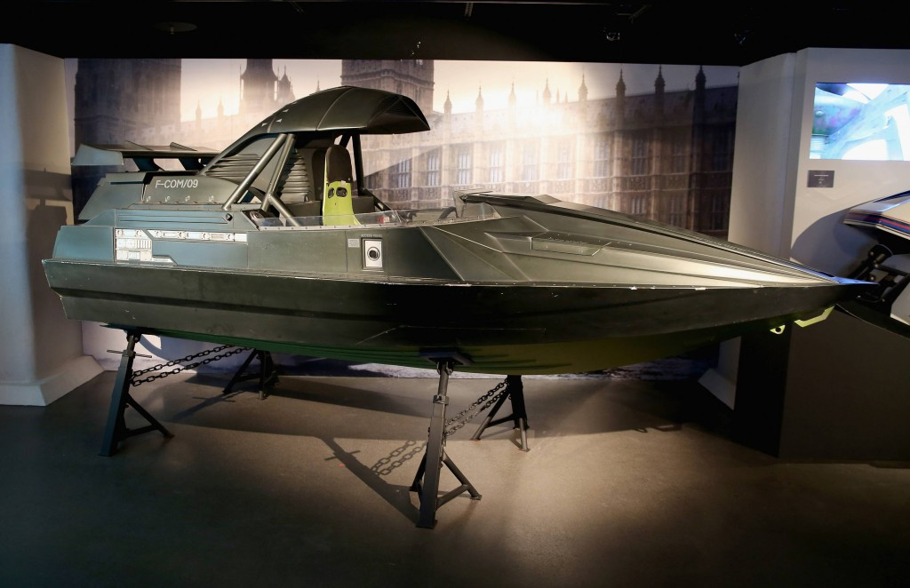 "Q Boat from ""The World is Not Enough"" (1999). Photo by London Film Museum"