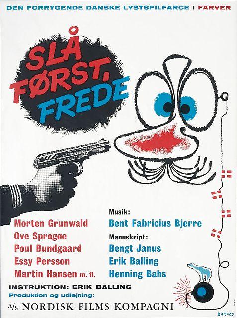 """""""Slå først, Frede!"""" (1965). Tegning: Bent Barfod"""