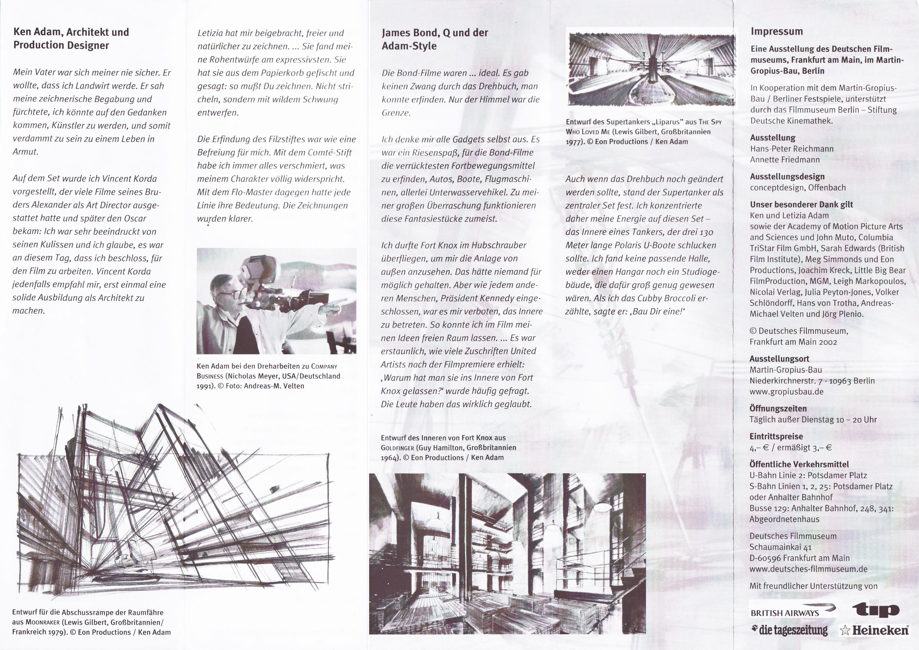 KEN ADAM brochure 2002 B
