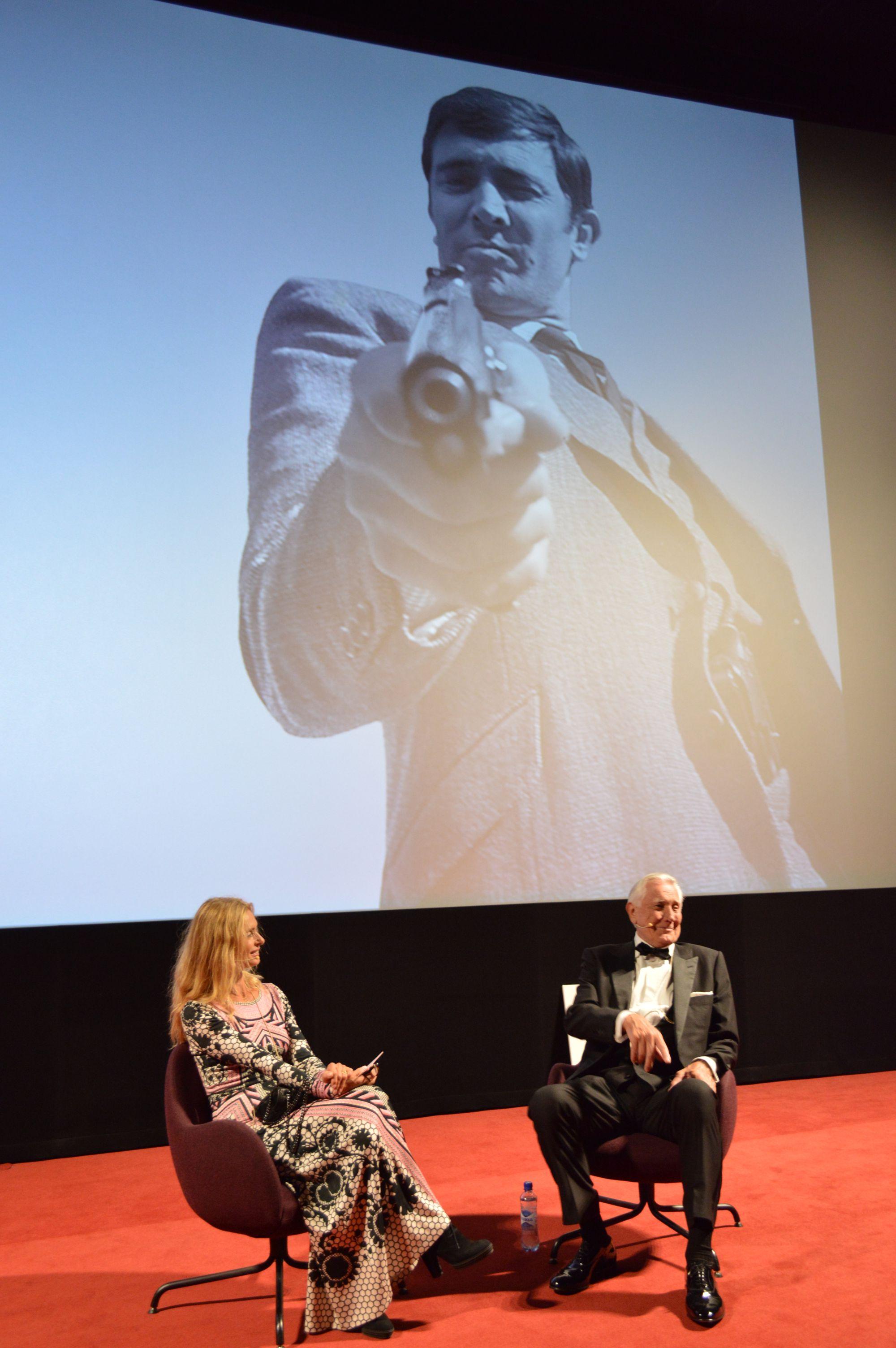 Maryam d'Abo og George Lazenby i Vika Kino, Oslo 01.09.2016 - © Brian Iskov