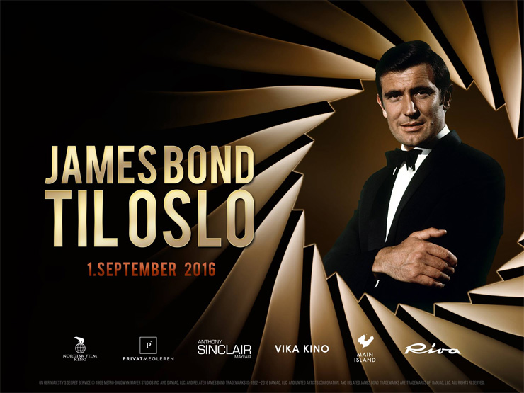 James Bond in Oslo banner
