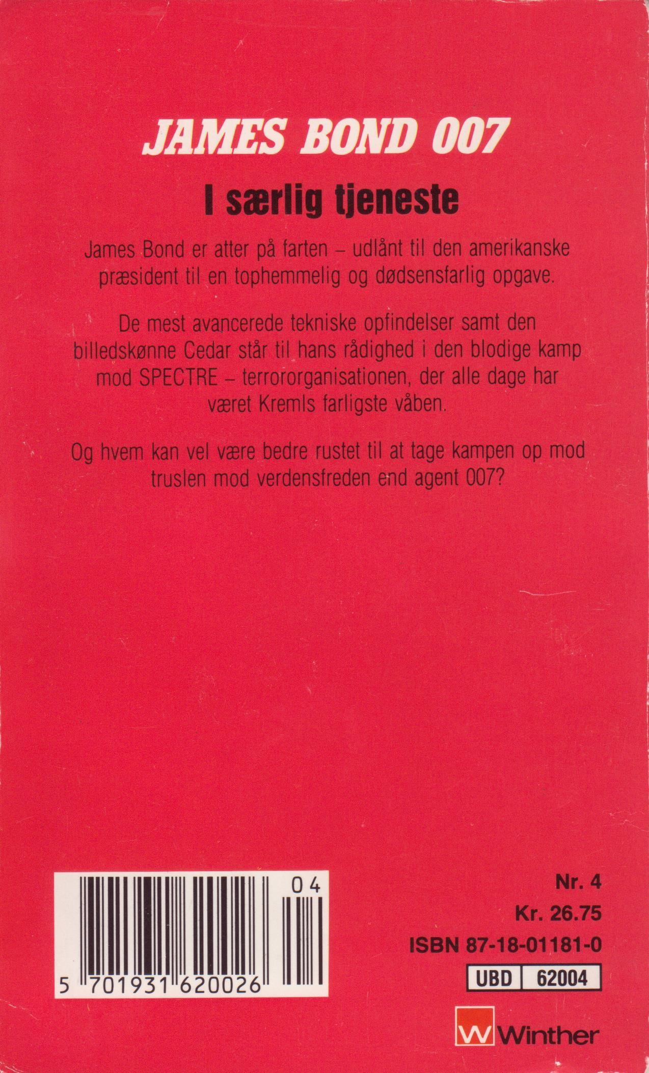 Gardner I særlig tjeneste 1990 back cover