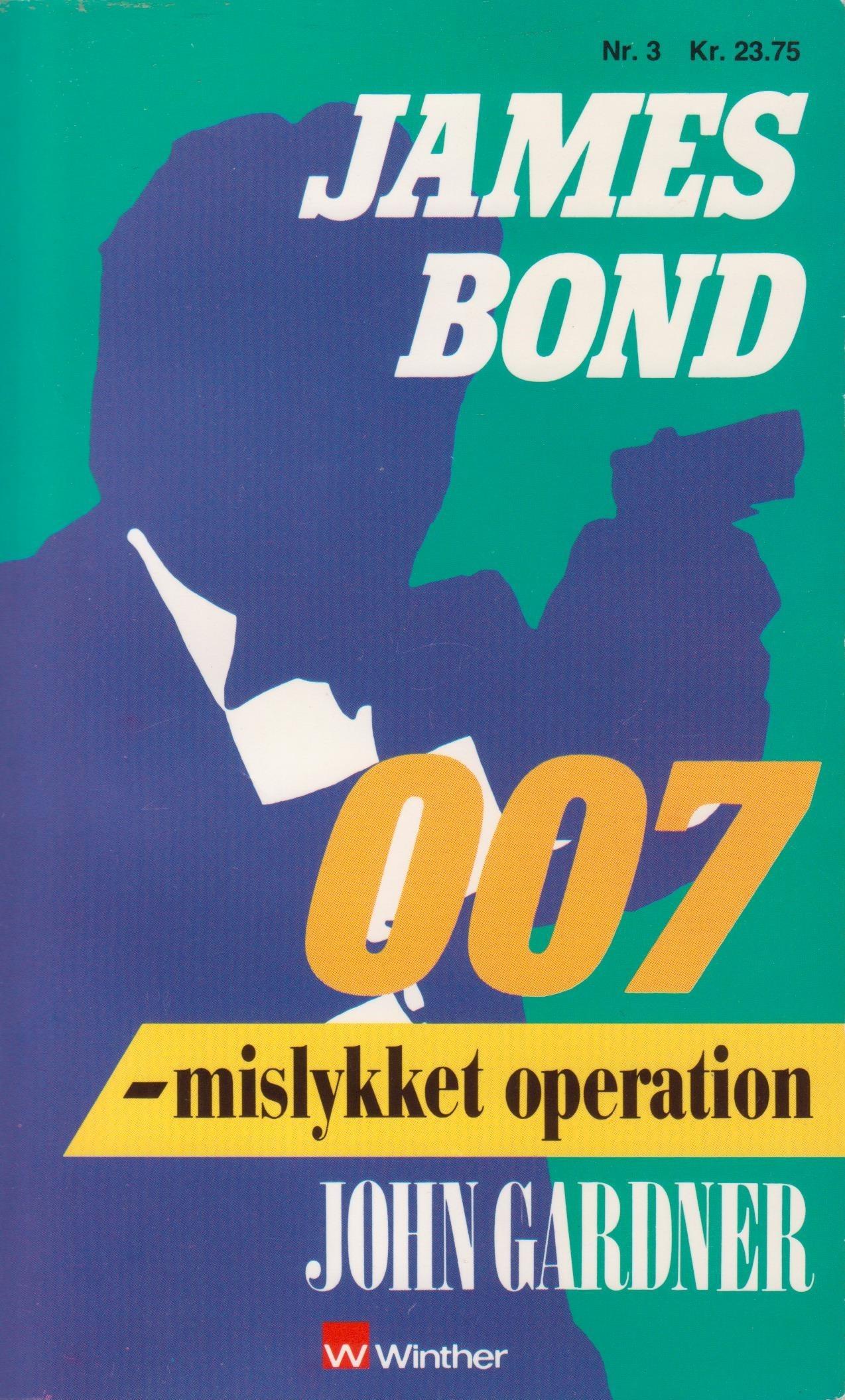 John Gardner Mislykket operation dk 1989 forside