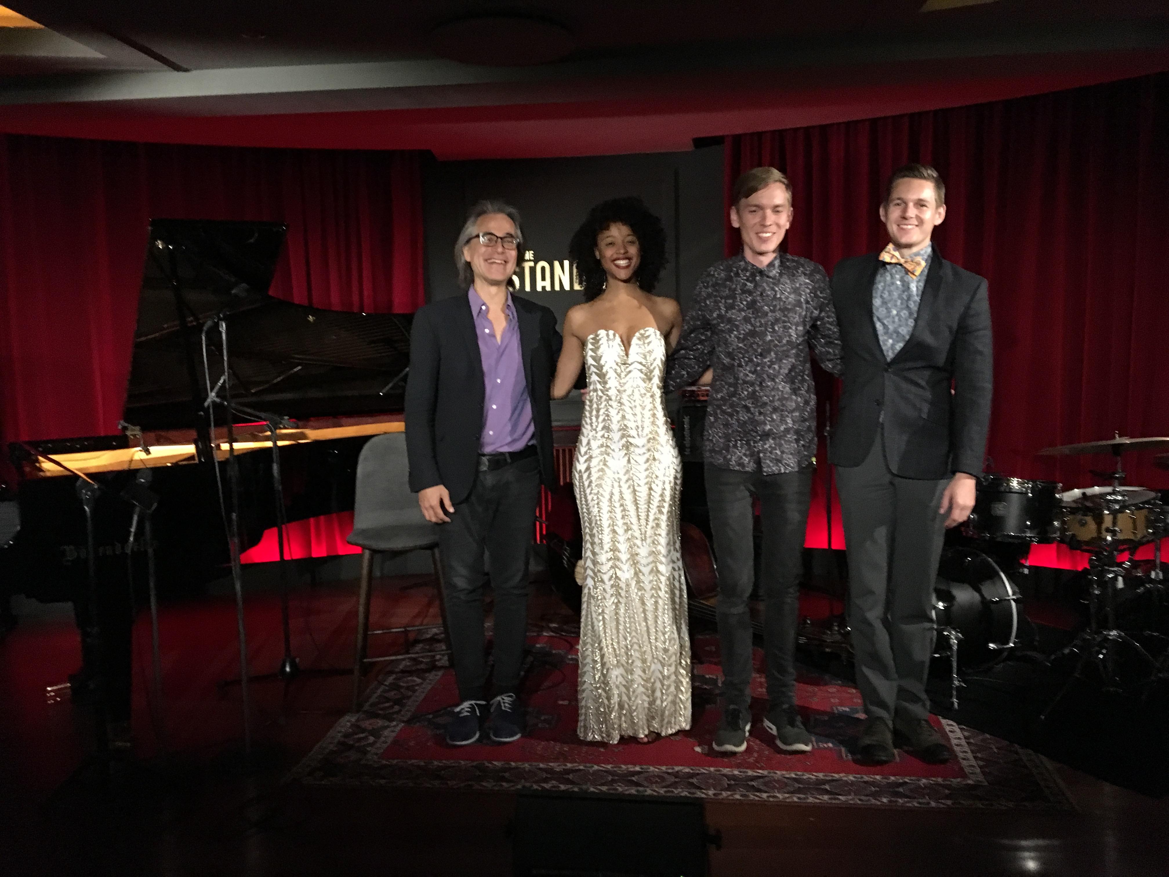 Niels Lan Doky, Jordan Jackson, Tobias Dall og Niclas Bardeleben på The Standard Jazz Club - pressefoto, 2016