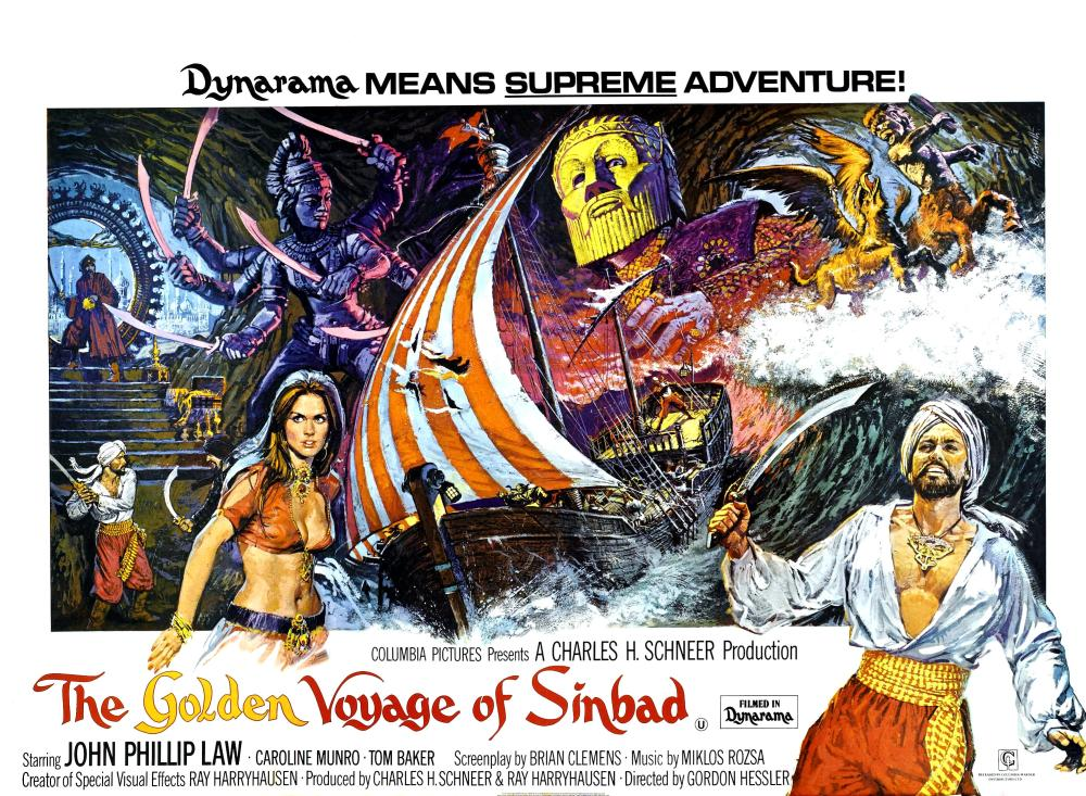 Munro Golden Voyage of Sinbad quad poster