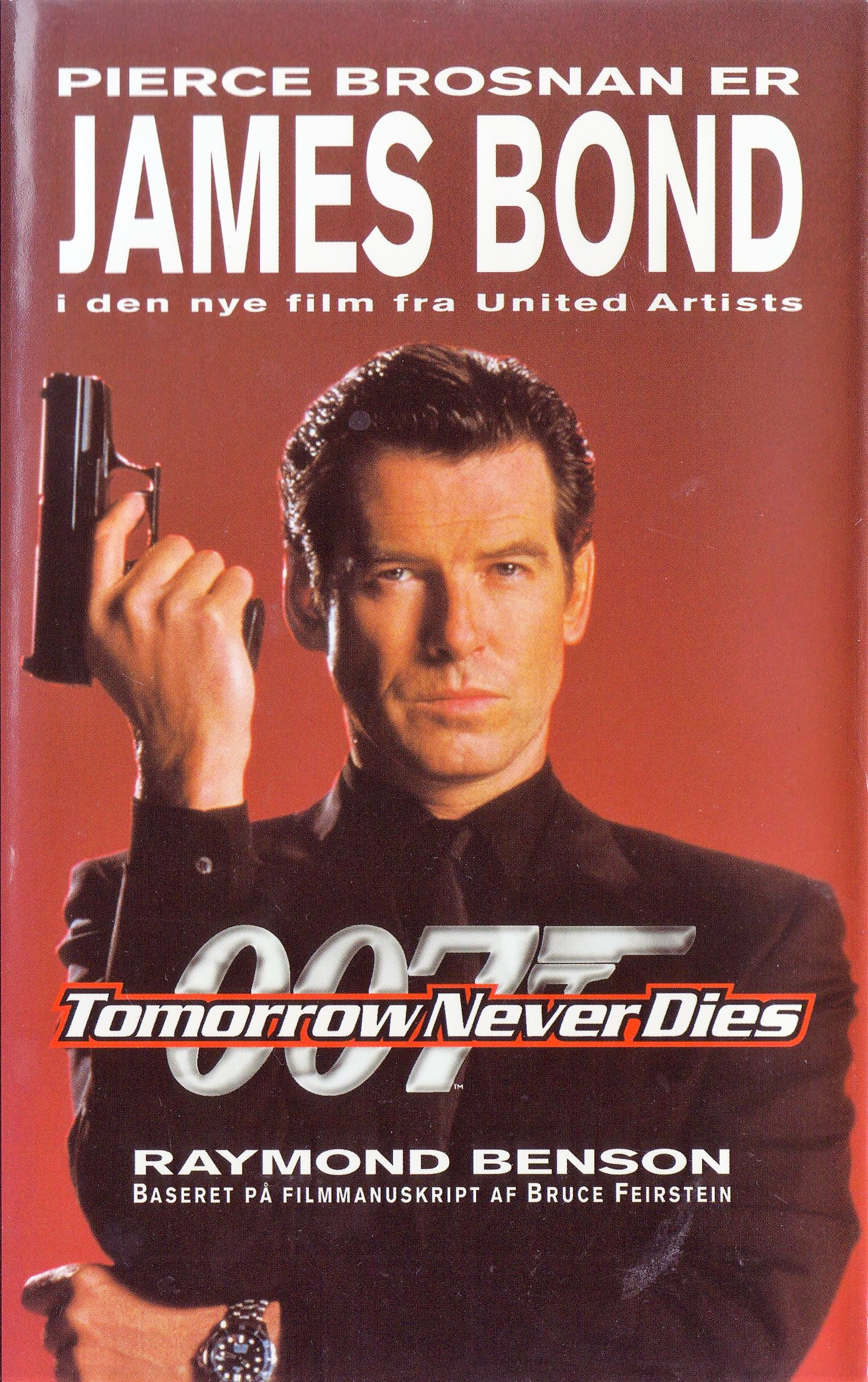 Tomorrow Never Dies Novelization Danish Hardcover 1997 James Bond O Rama Dk