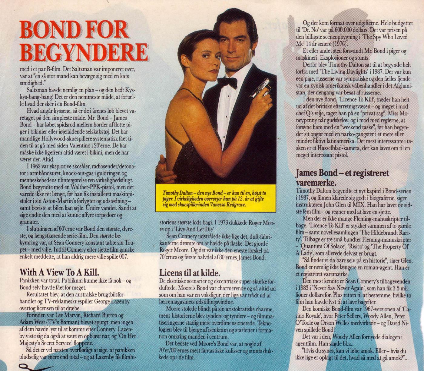 Bond for begyndere - MIX 1989 C