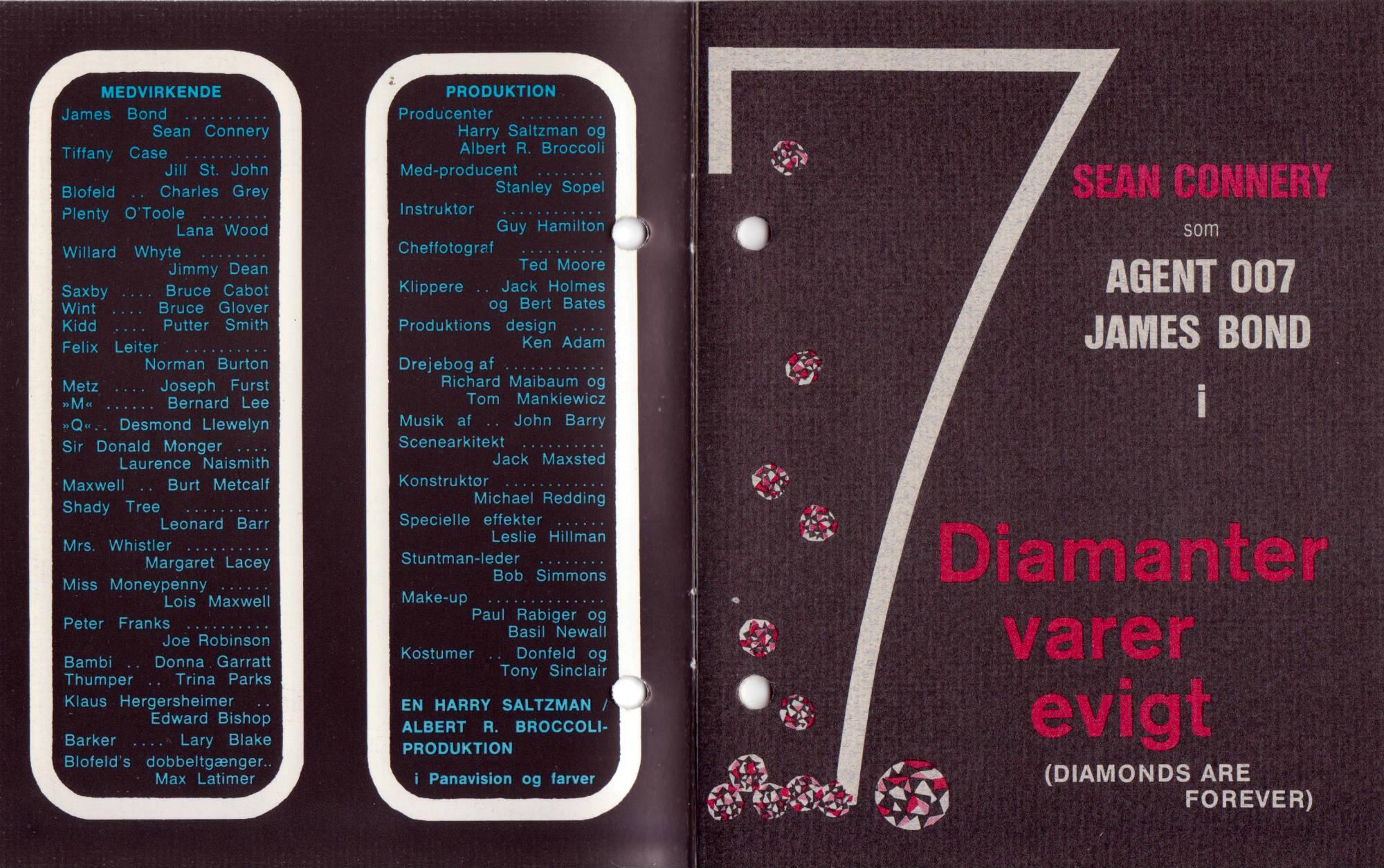 Diamanter varer evigt - filmprogram B
