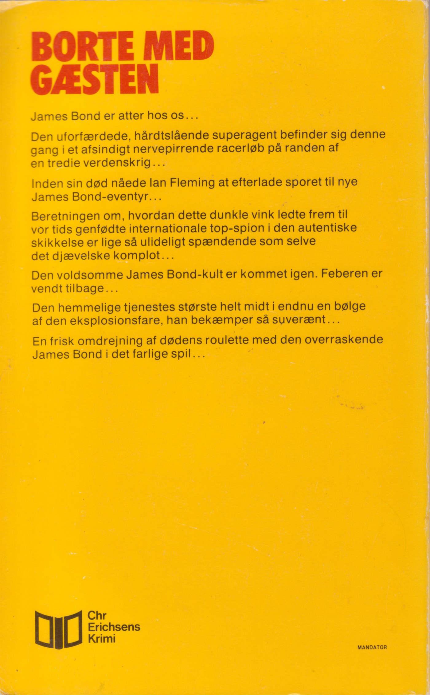 Borte med gæsten 1976 back cover