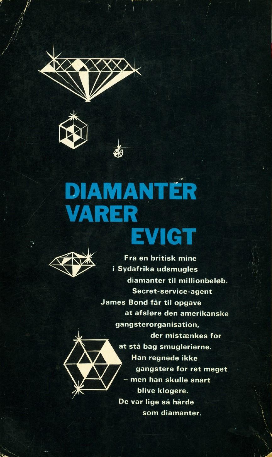 Diamanter varer evigt 1963 bagside