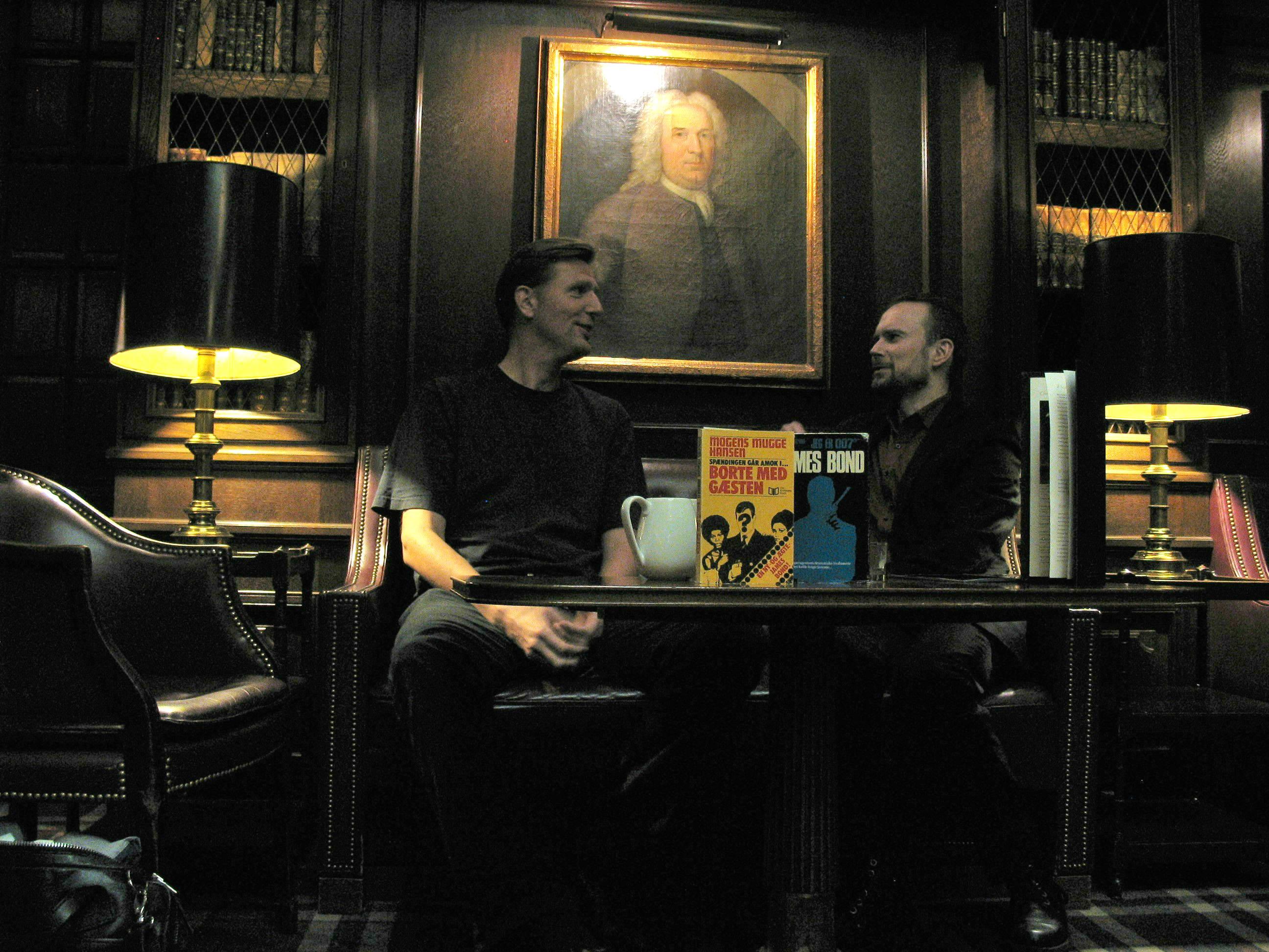 Rasmus Paaske Larsen og Brian Iskov i Library Bar 22.10.2017