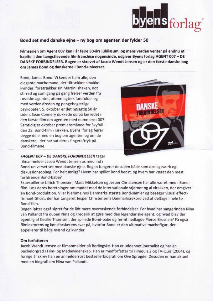 Agent 007 De danske forbindelser - presse A