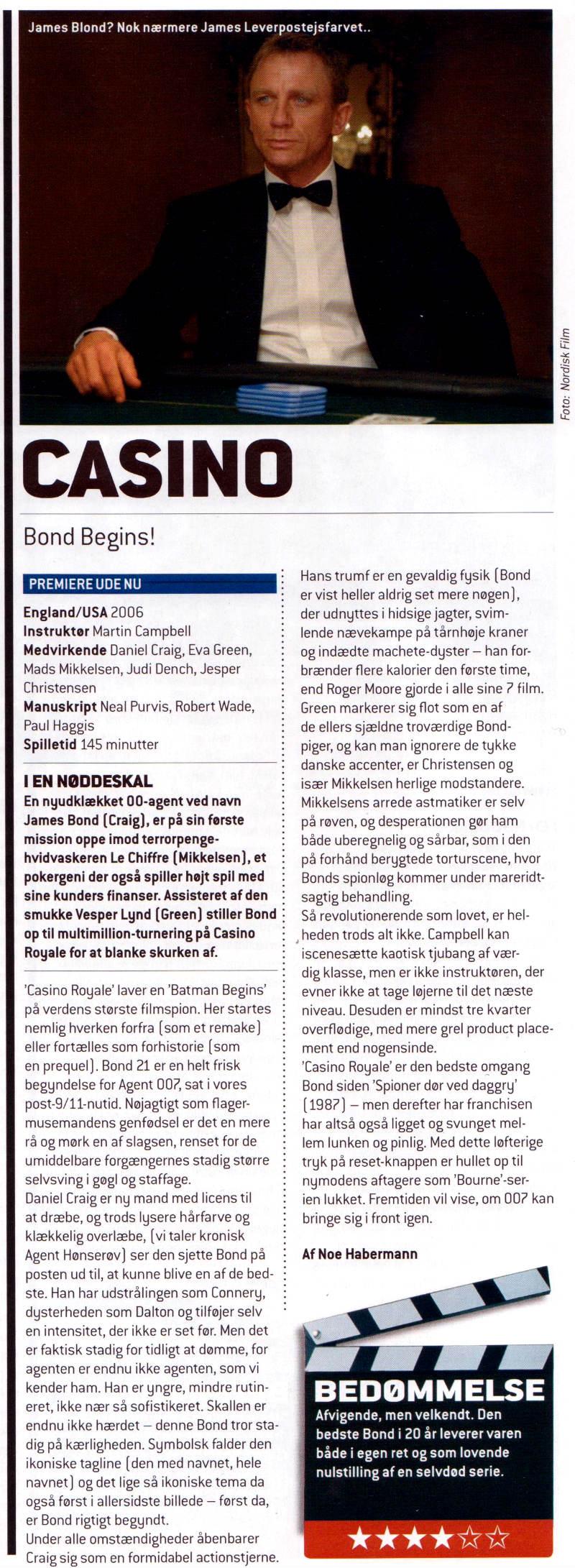 Casino Royale (2006): Total Films anmeldelse nr. 9 (januar 2007)