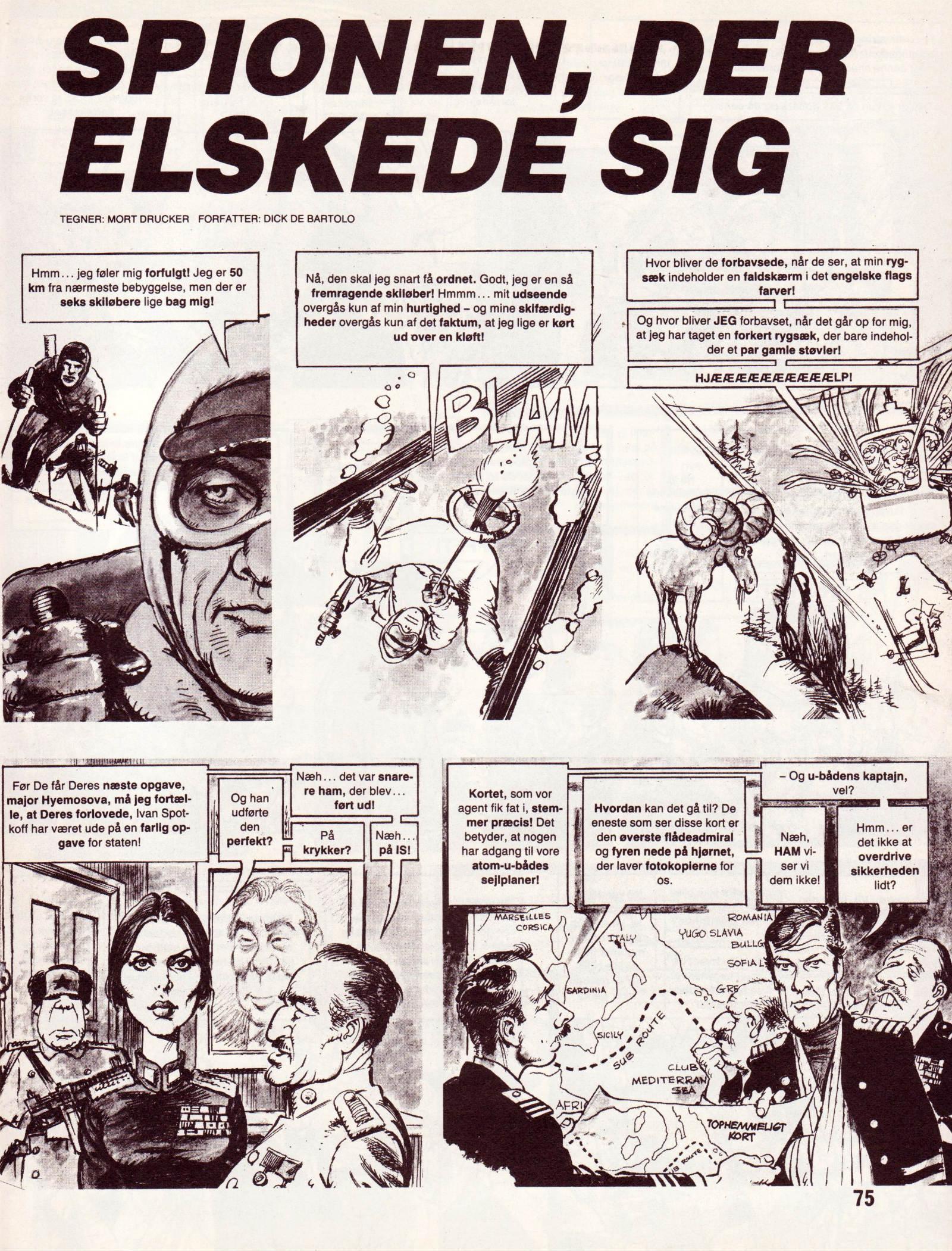 Spionen der elskede sig fra Dansk MAD's Videoguide side 75