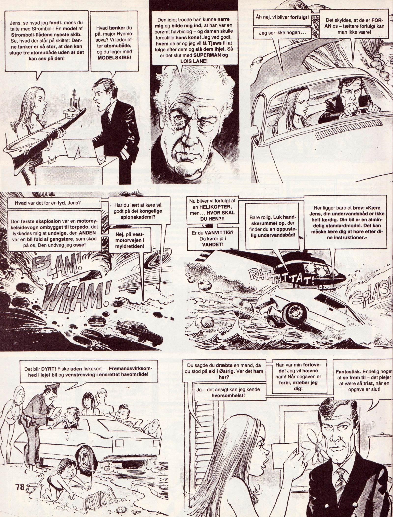 Spionen der elskede sig fra Dansk MAD's Videoguide side 78