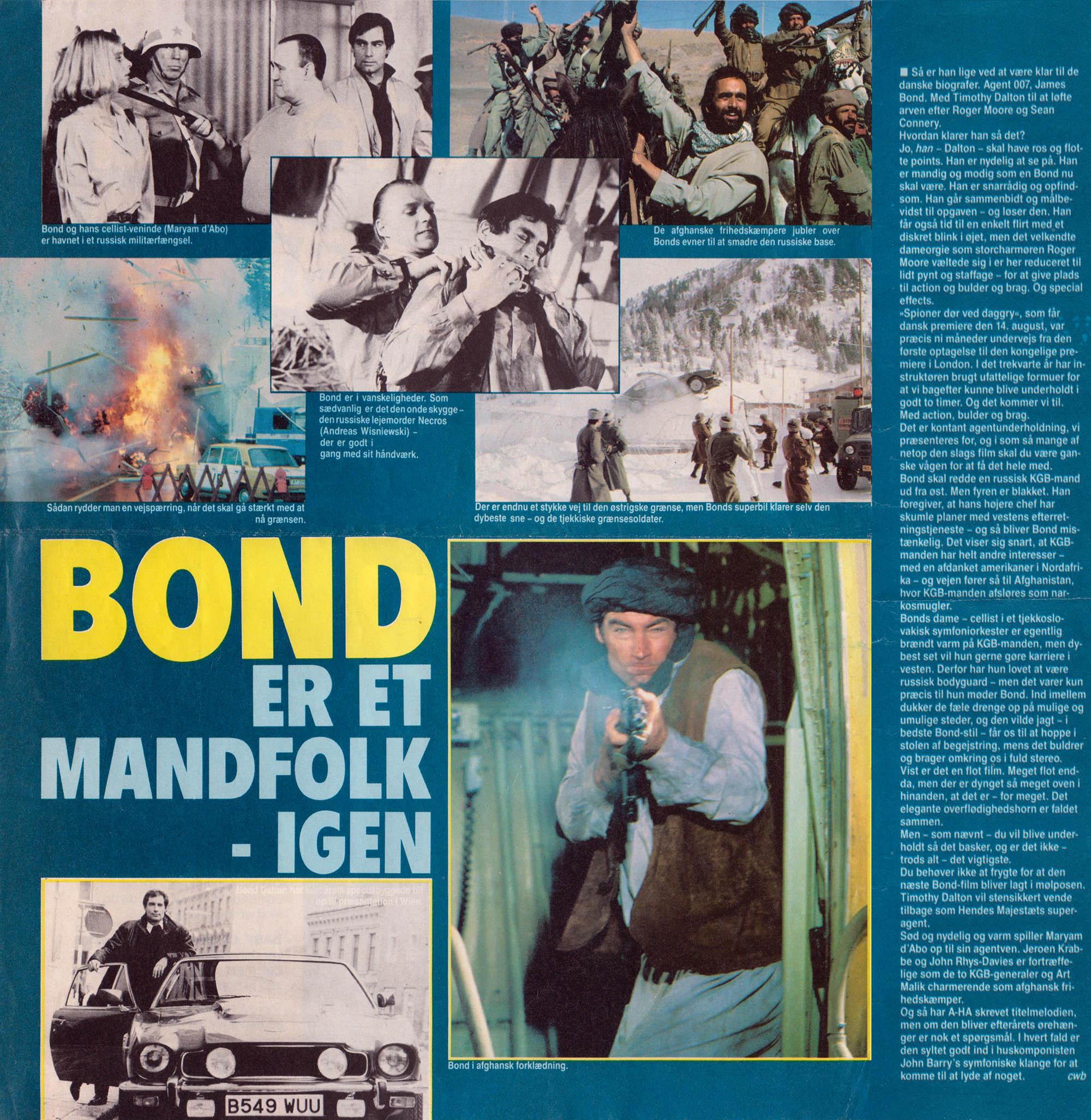 Spioner dør ved daggry - Vi Unge 8/1987 anmeldelse