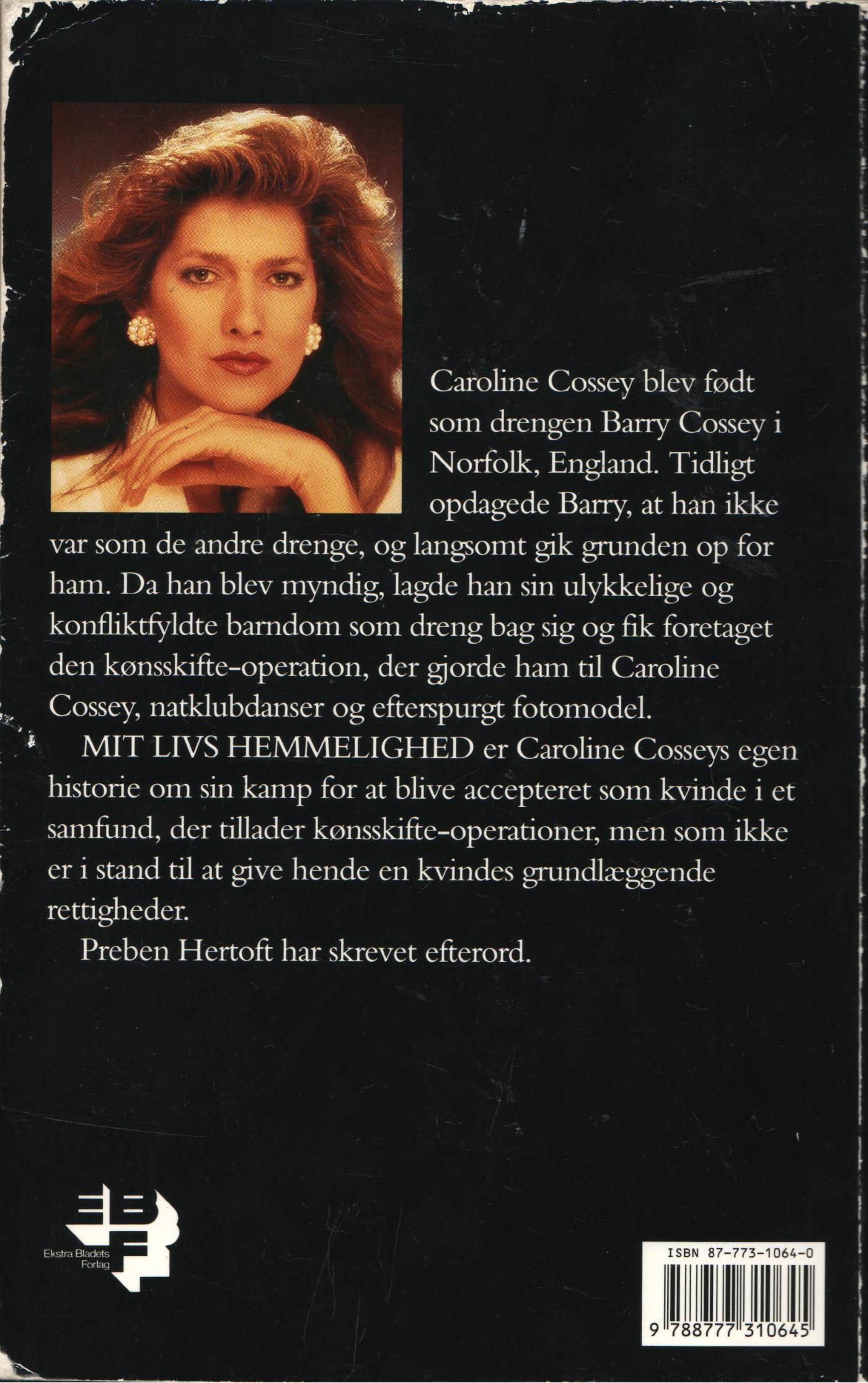 Mit livs hemmelighed (1992) - bagside