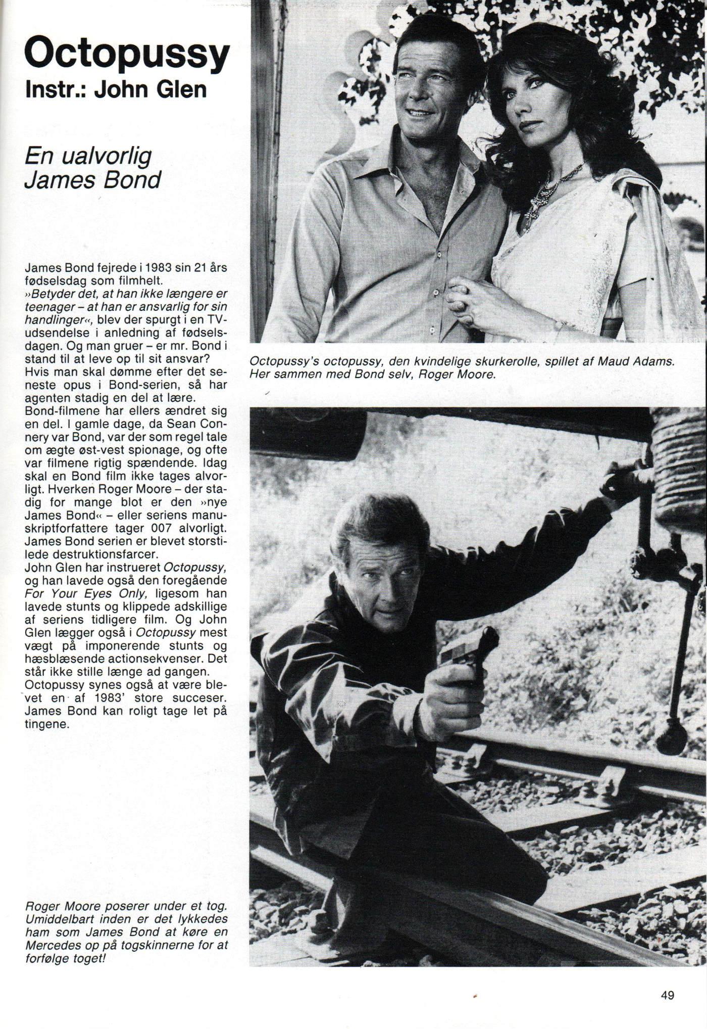 Octopussy i Filmårbogen 1983