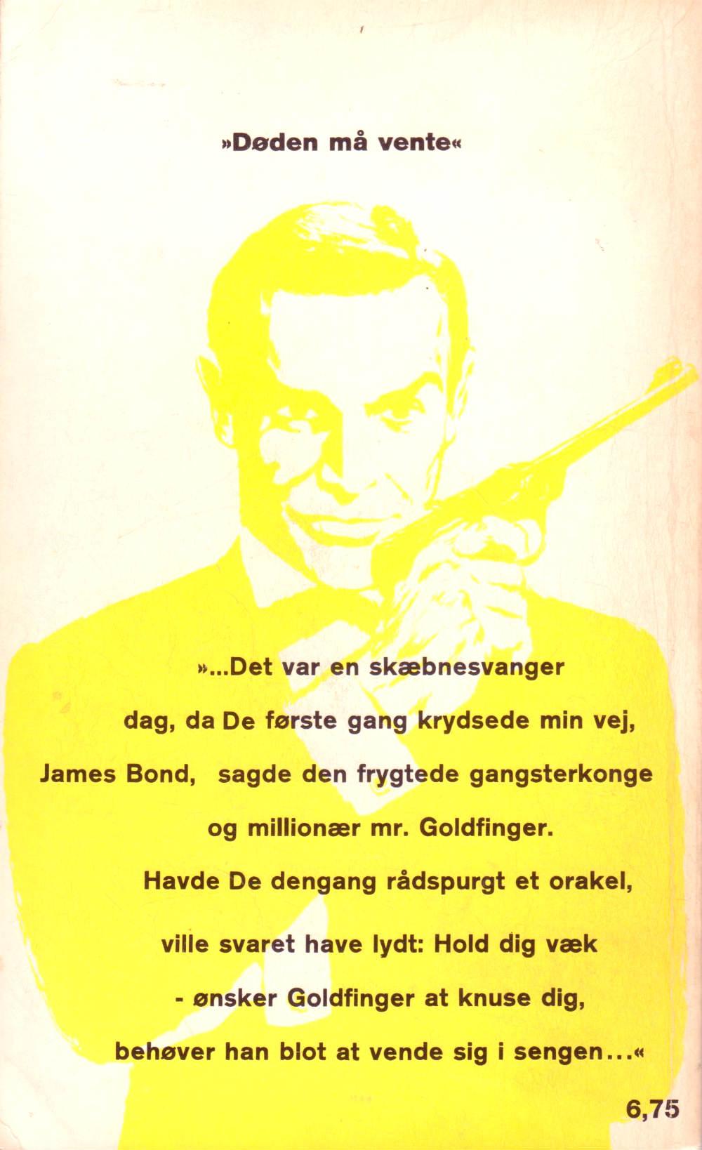 Goldfinger Skrifola paperback 1965 bag