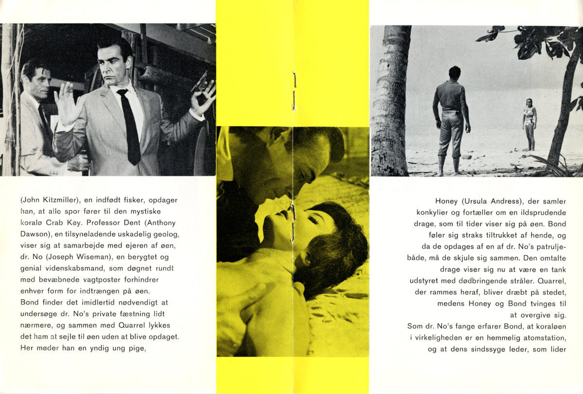 DR NO filmprogram B side 6-7