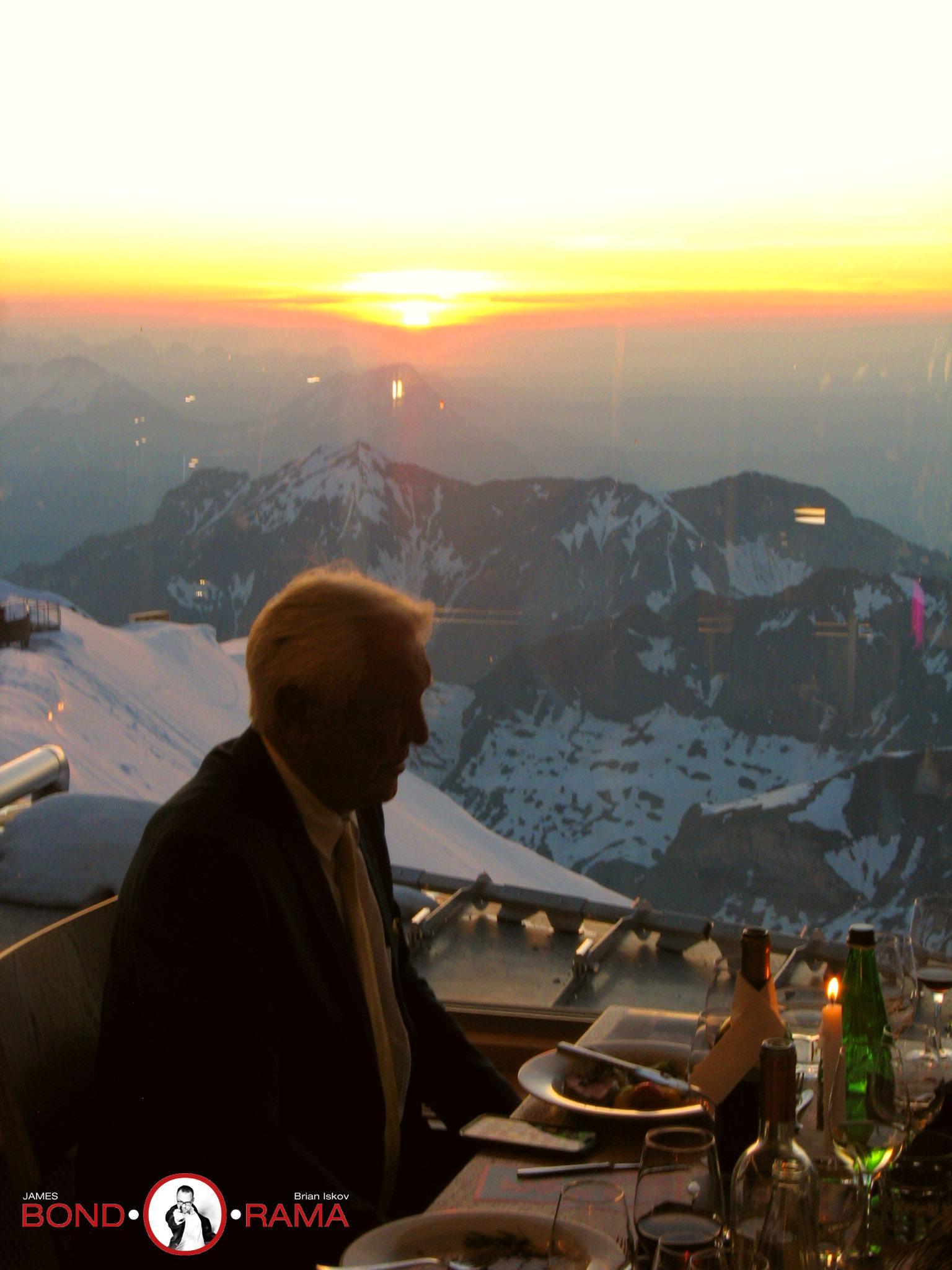 George Lazenbys stille solnedgangsstund på Piz Gloria