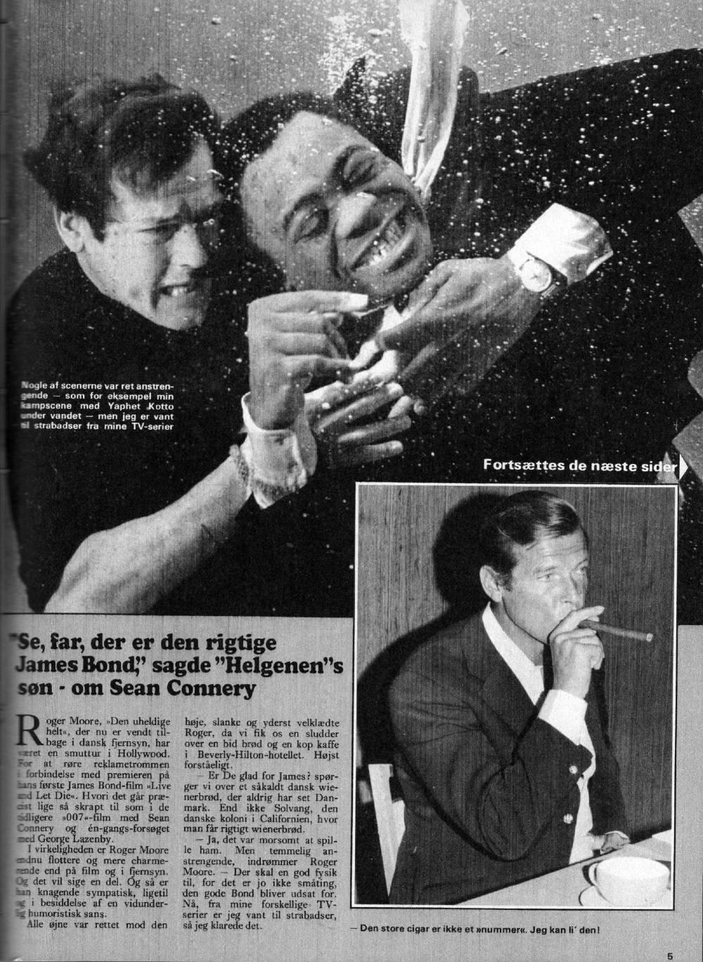 Roger Moore Lev og lad dø SH31 030873 B