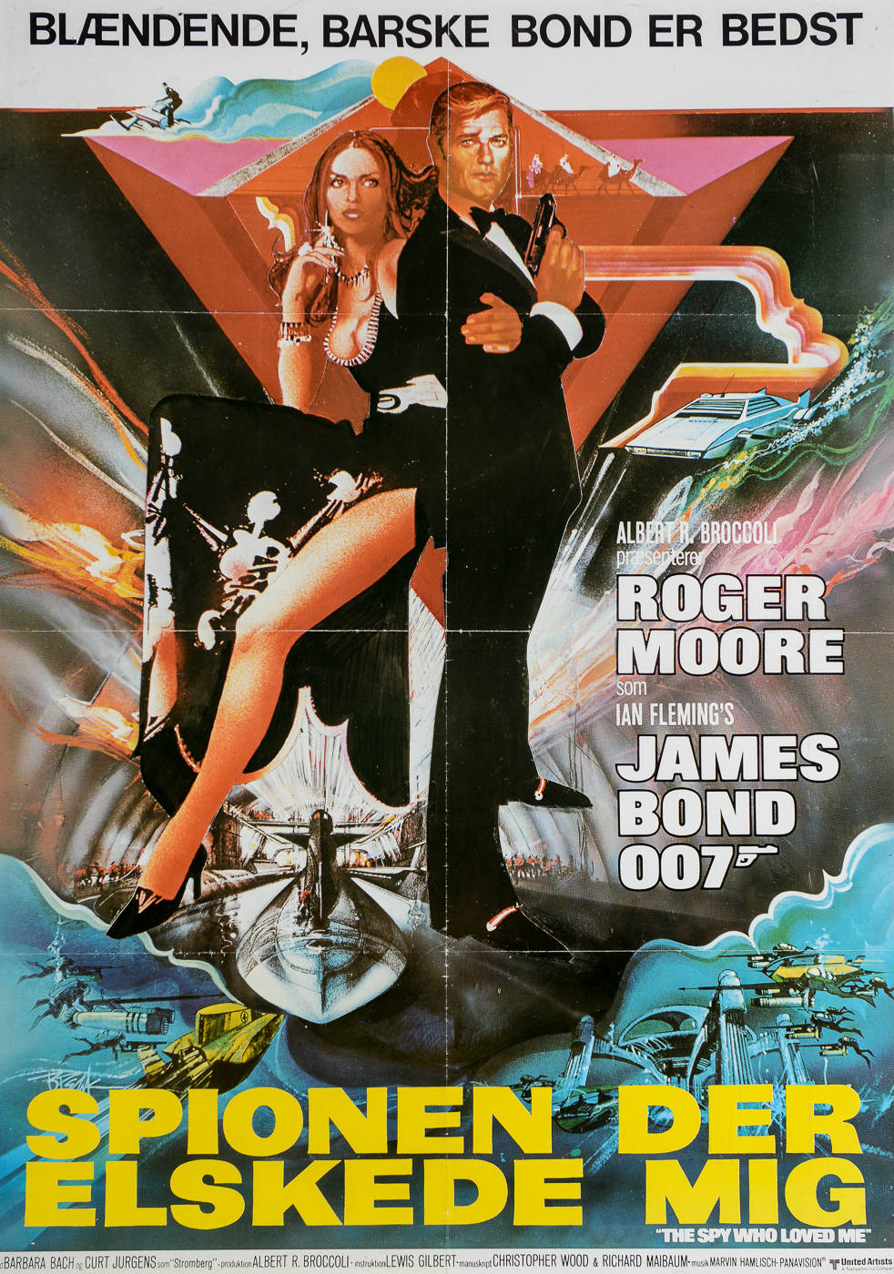 The Spy Who Loved Me 1977 Danish Theatrical Posters